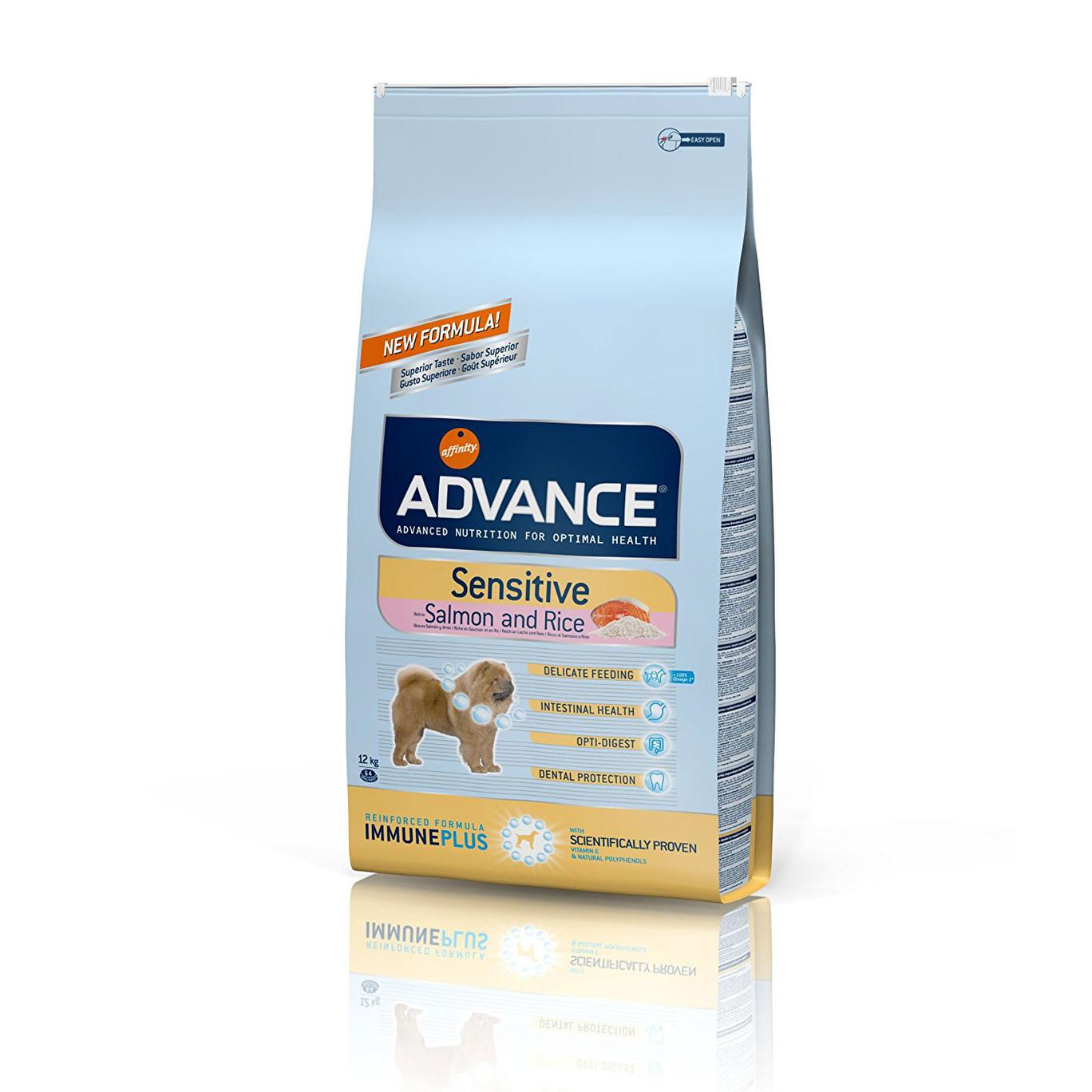 ADVANCE Sensitive kg12 crocchette per cani con SALMONE e riso