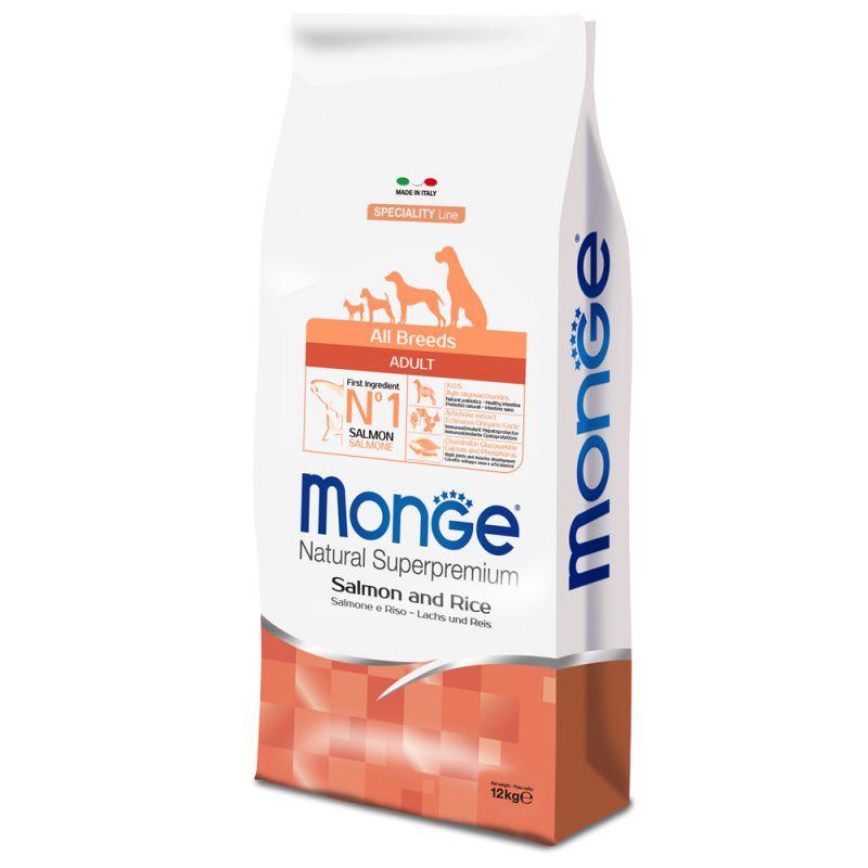 Monge DOG All Breeds Adult Salmone e Riso kg12