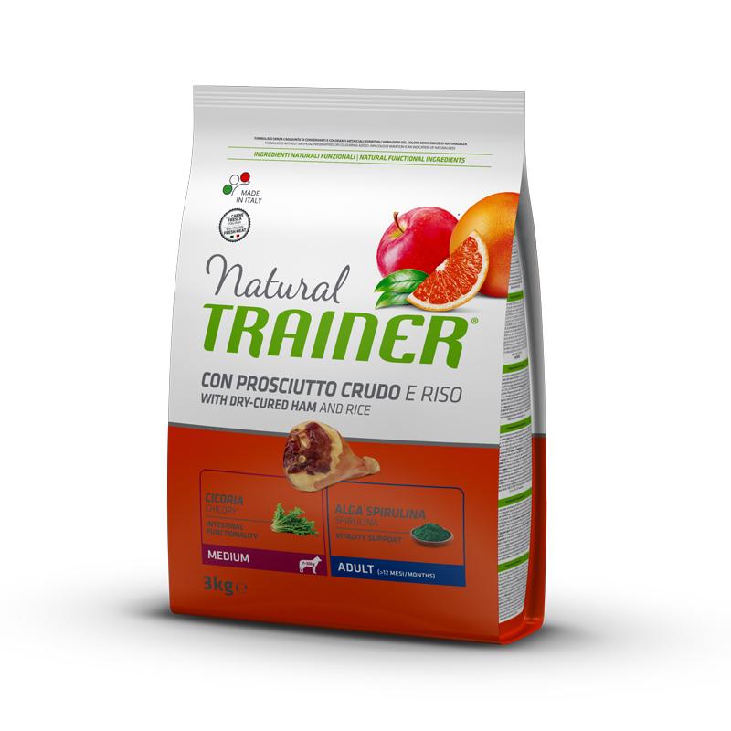 Natural Trainer Adult Medium con Prosciutto crudo kg3