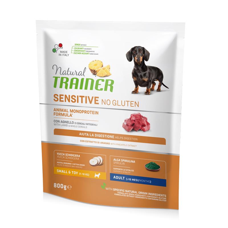 Natural Trainer Sensitive No Gluten Mini Adult con Agnello gr800