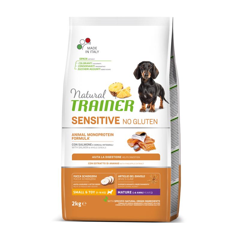 Natural Trainer Sensitive No Gluten Mini MATURE con Salmone kg2