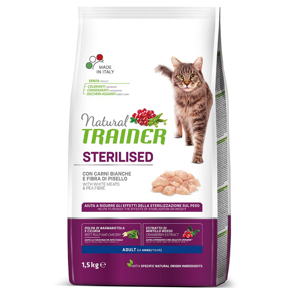 Natural TRAINER CAT Sterilised Adult con Carni Bianche kg1,5
