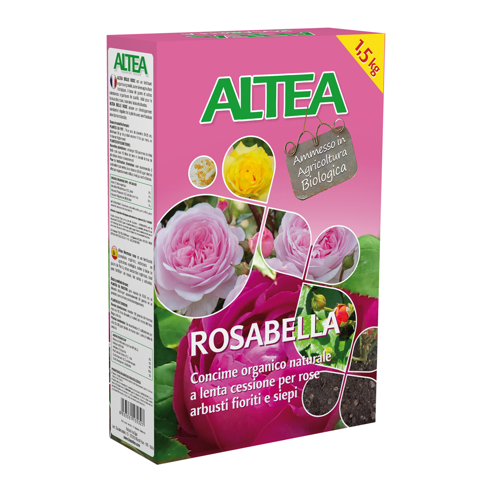 ROSABELLA kg1,5 concime organico Granulare per ROSE