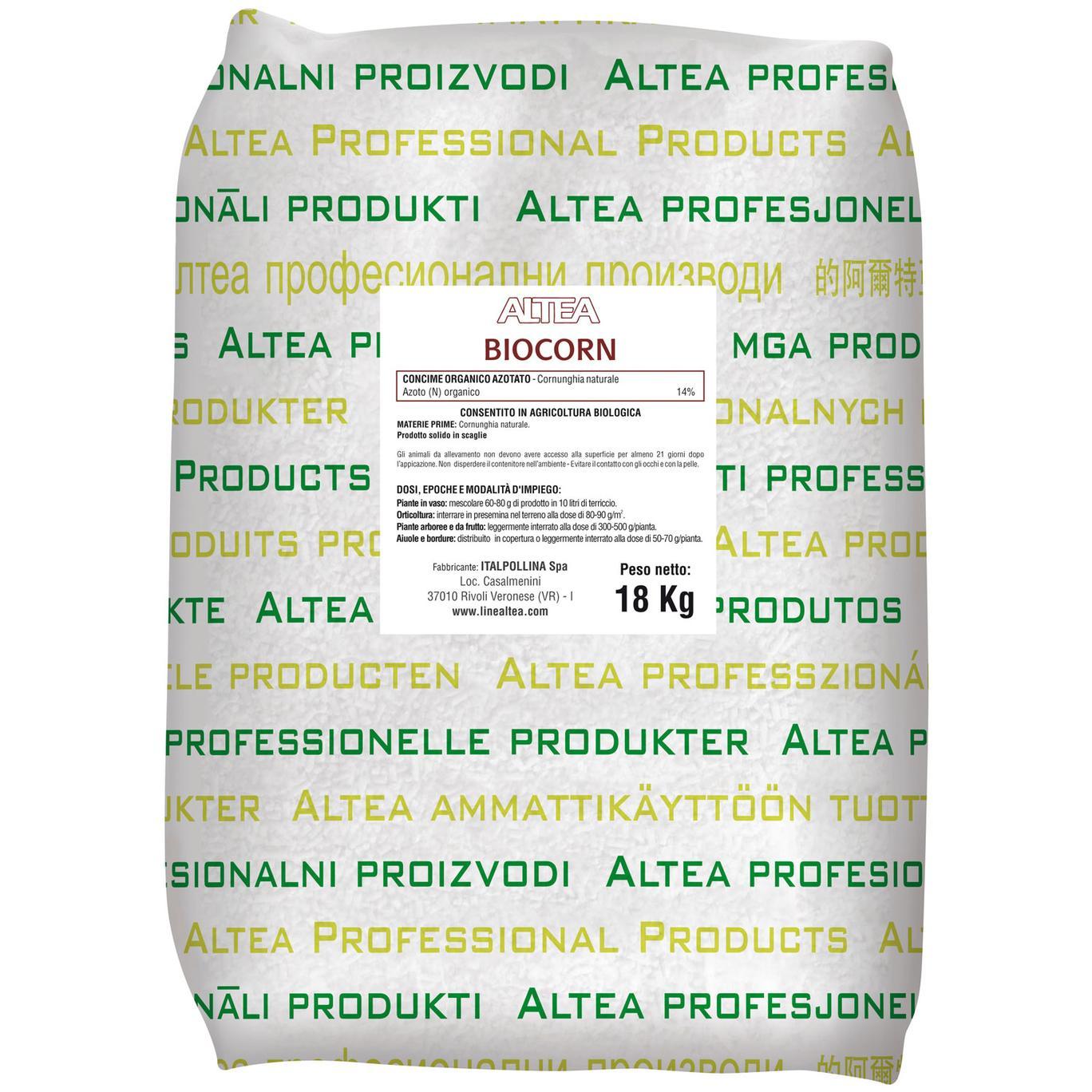 Altea BIOCORN CORNUNGHIA naturale kg18 in scaglie concime organico BIO