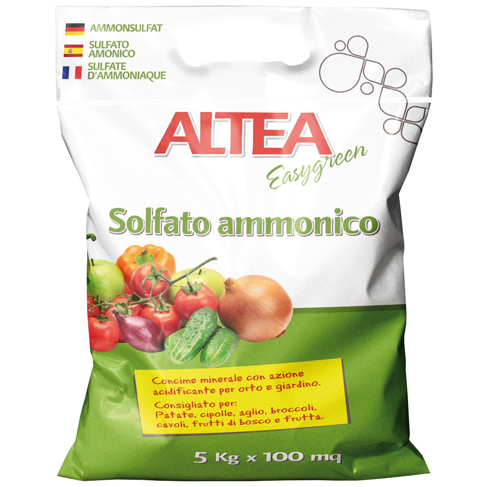 SOLFATO AMMONICO kg5 concime minerale azotato per orti e giardini