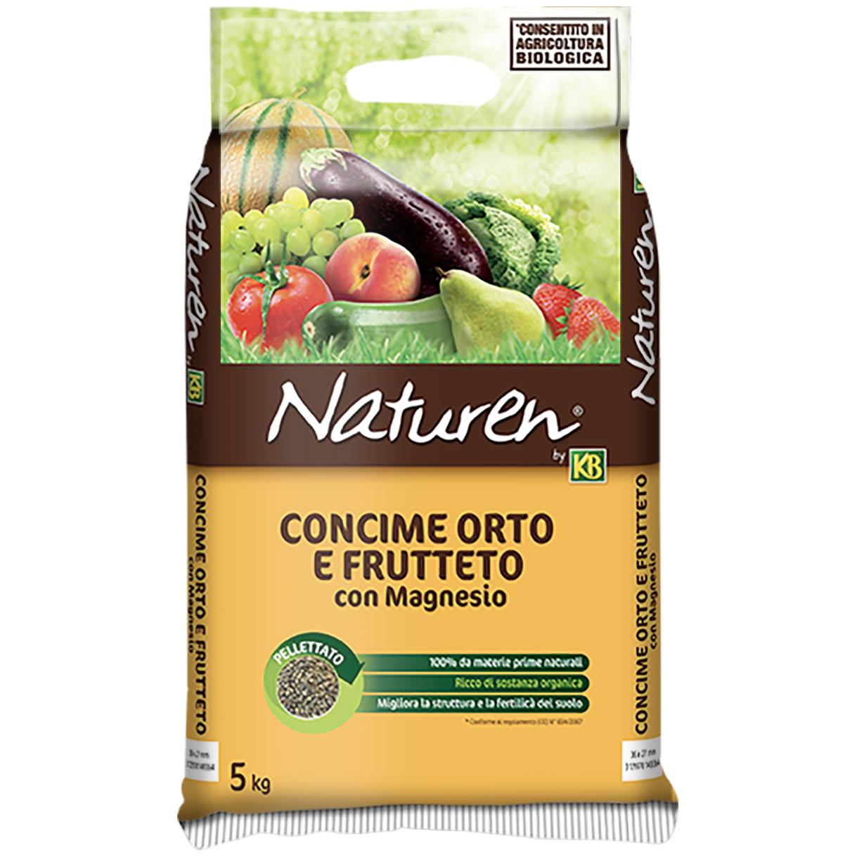 Concime pellettato NATURALE Orto e Frutteto BIO kg5