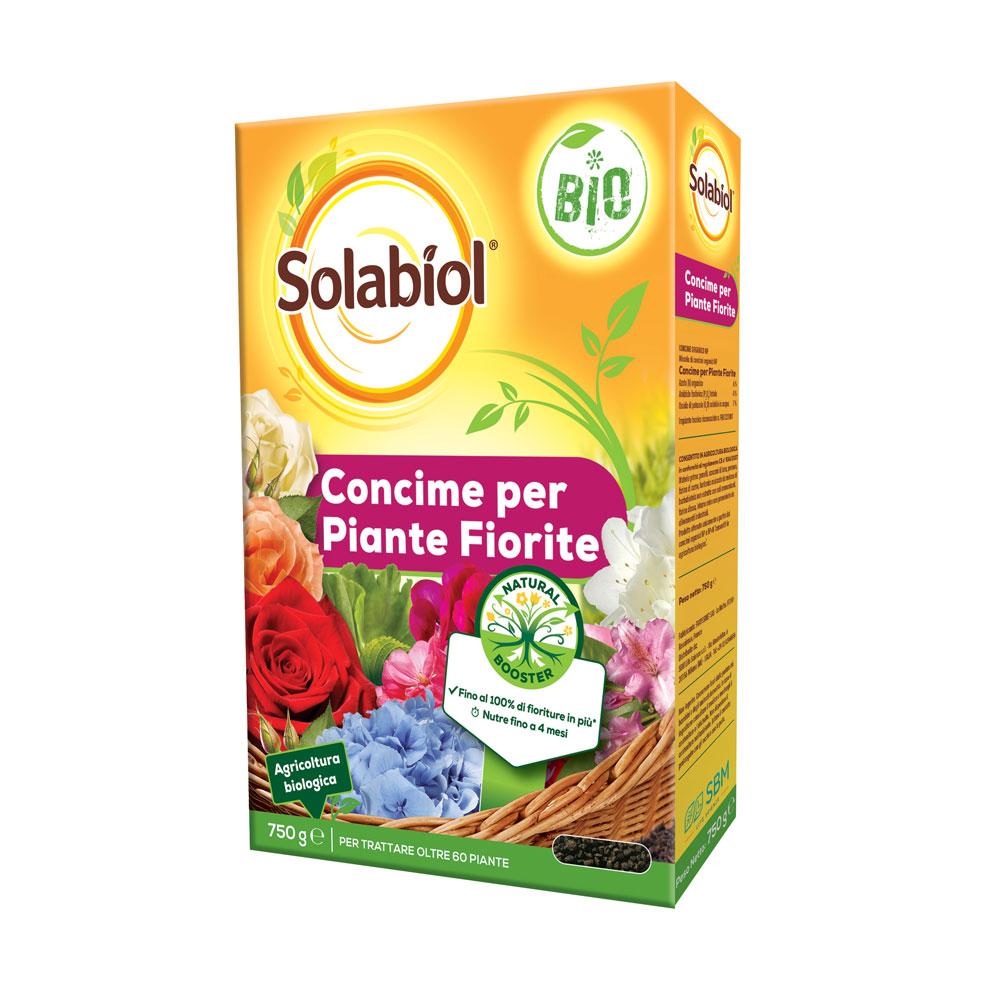 Solabiol Concime Piante Fiorite BIO Con tecnologia Natural Booster gr750