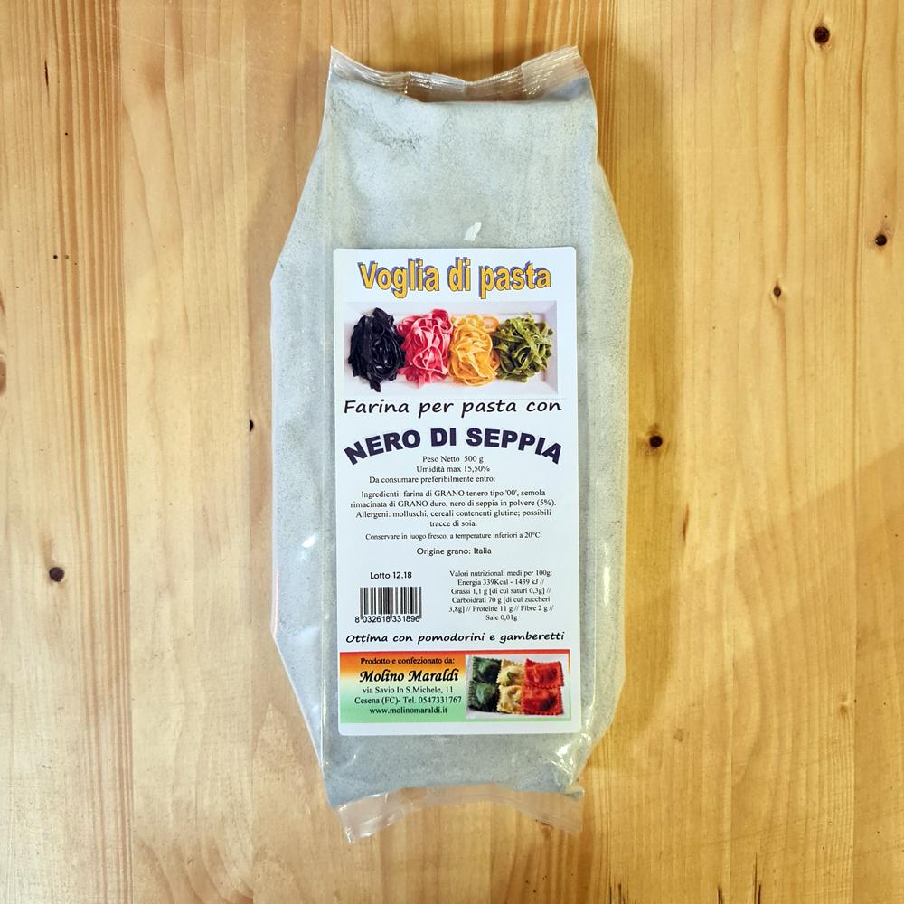 Farina per PASTA con NERO di SEPPIA gr500