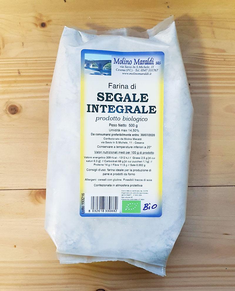 Farina di SEGALE Integrale Biologica gr500
