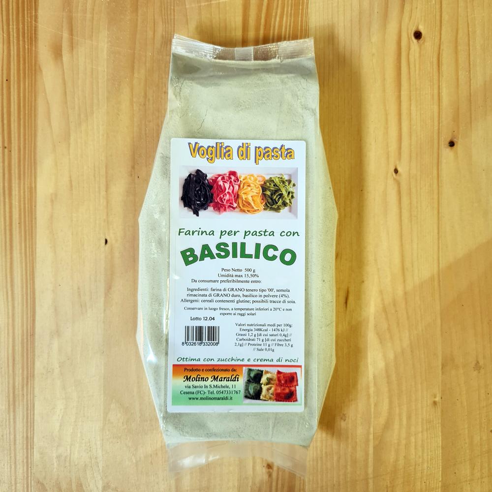 Farina per PASTA con BASILICO gr500