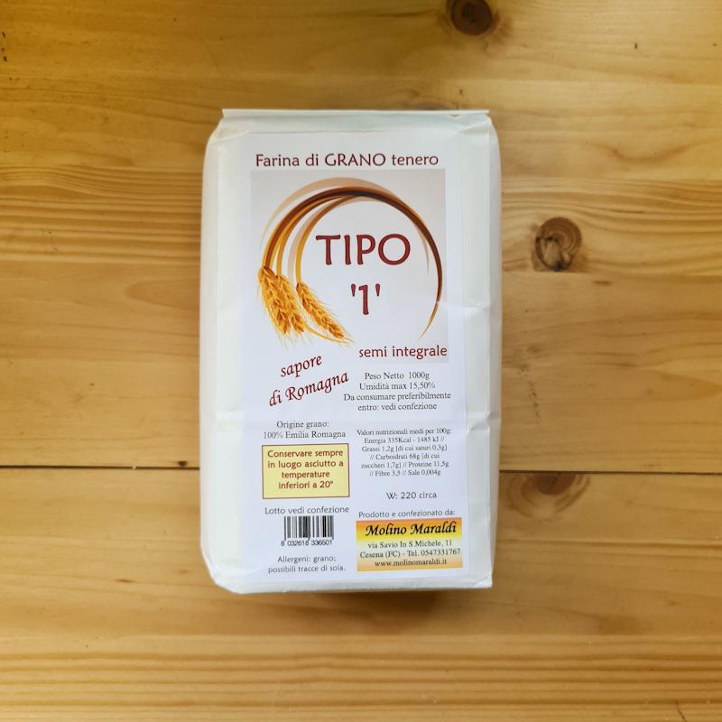 Farina di Grano Tenero semi integrale TIPO'1' kg1