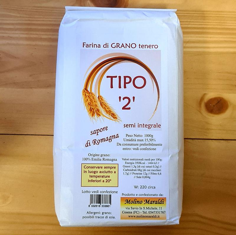 Farina di Grano Tenero semi integrale TIPO'2' kg1