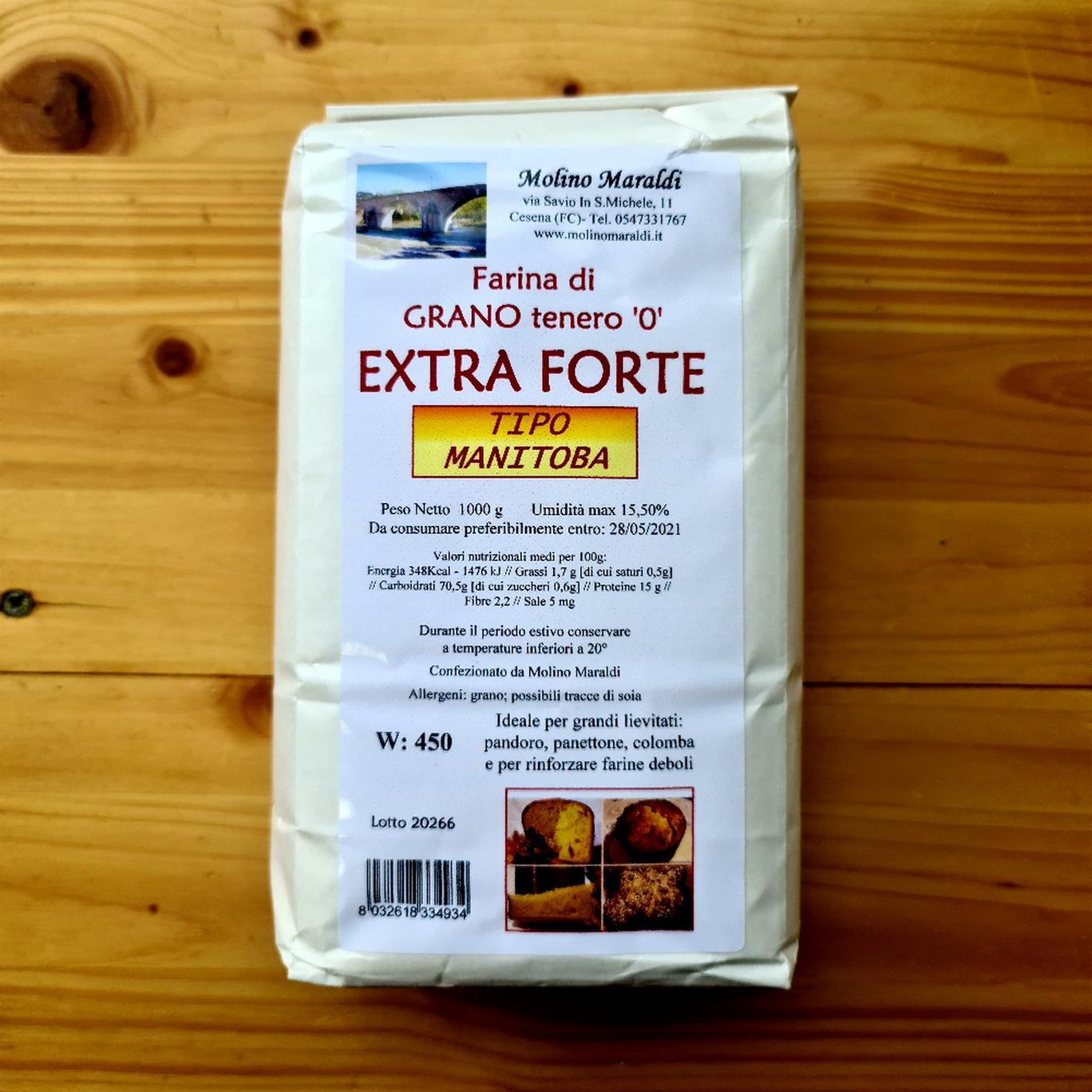 Farina di Grano tenero EXTRA FORTE tipo MANITOBA kg1