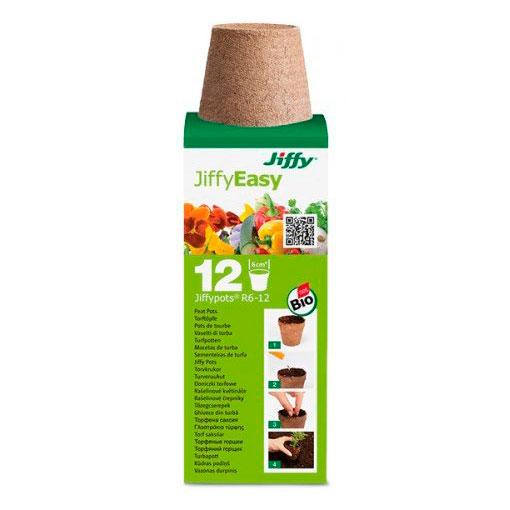 Vasetti di torba per germinazione JIFFY diam.6cm confezione 12pz