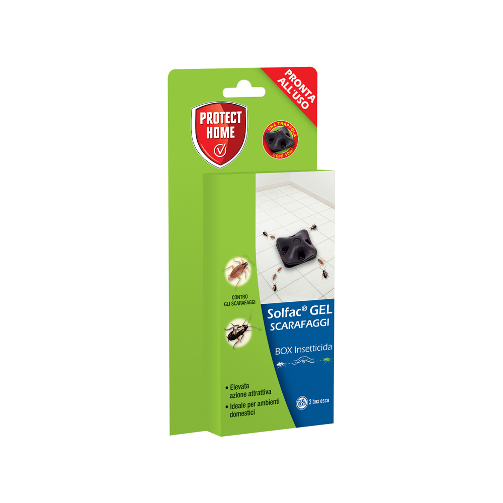 Solfac Gel Scarafaggi - insetticida Box 2pz