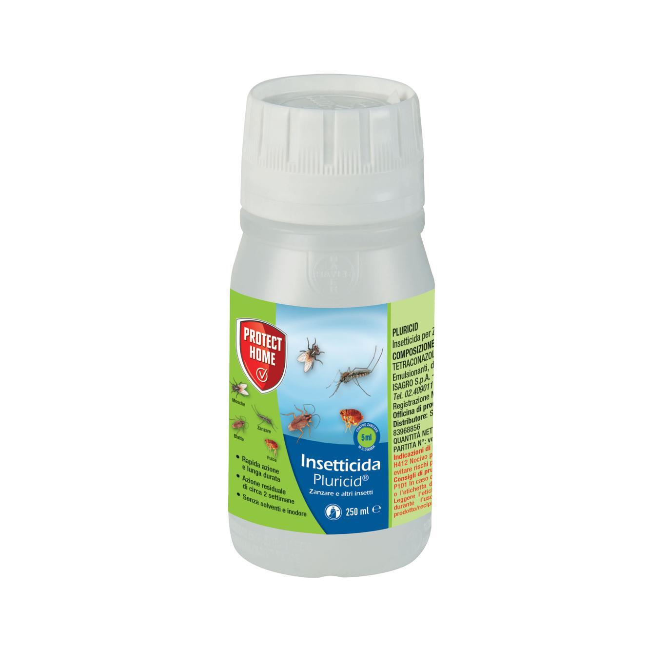 Bayer Pluricid 250ml Insetticida concentrato per la protezione dalla zanzare