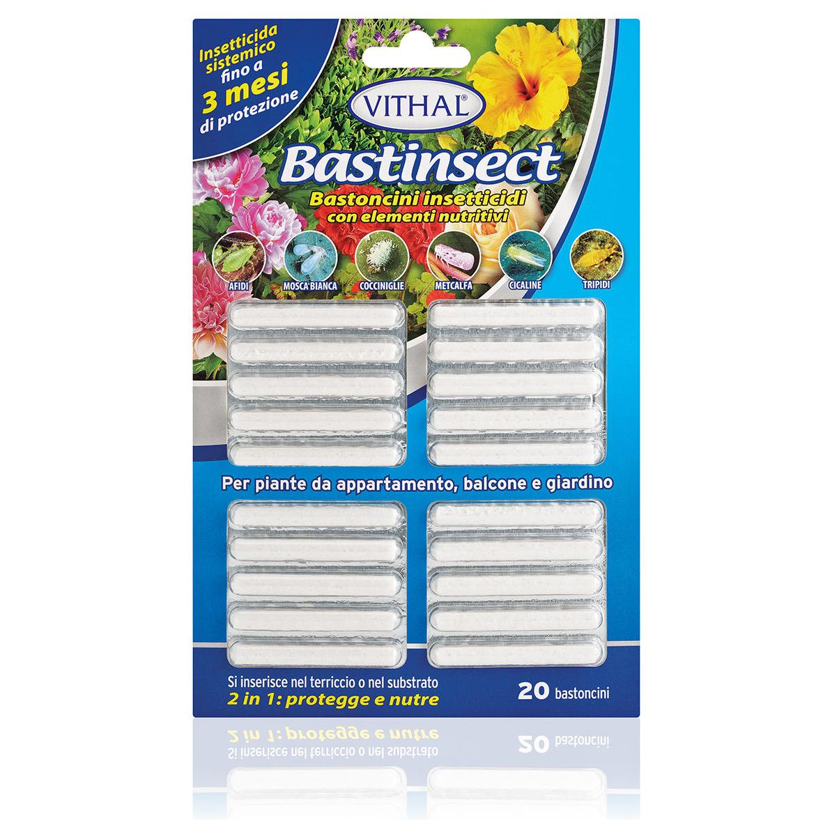 Insetticida SISTEMICO per piante ornamentali BASTINSECT 20pz