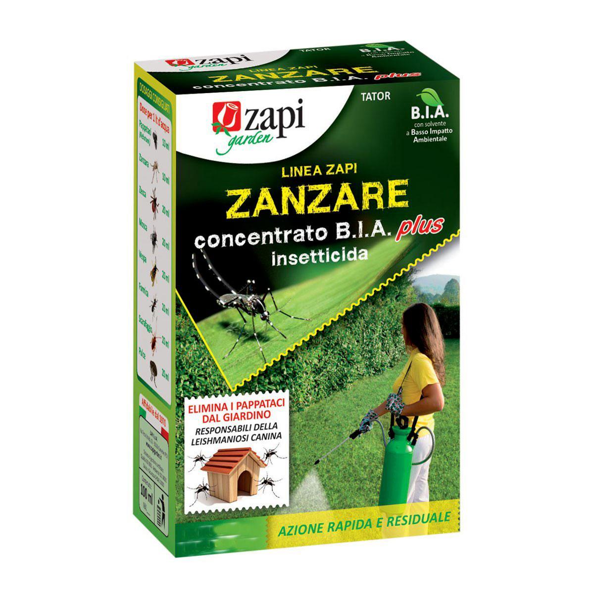 Zapi zanzare concentrato 100ml B.I.A. plus Insetticida per uso sul verde