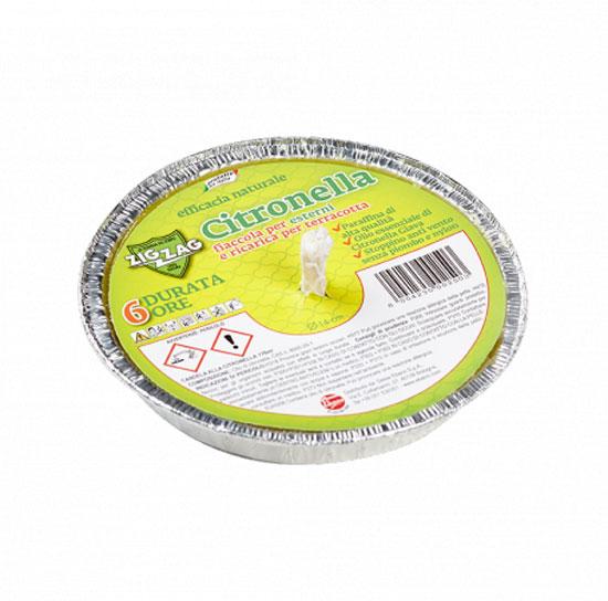 Zig Zag Fiaccola alla Citronella in Alluminio Diametro 14 cm