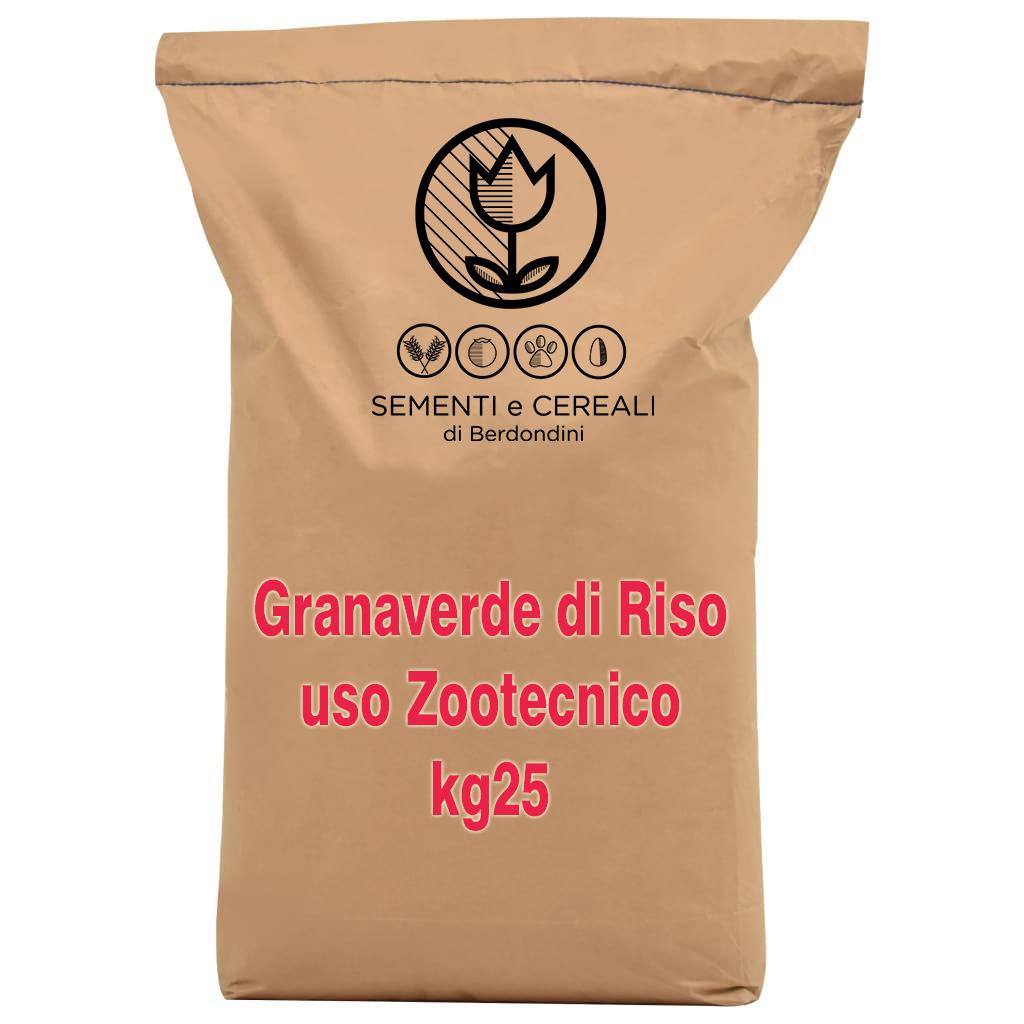Granaverde di riso uso zootecnico kg25