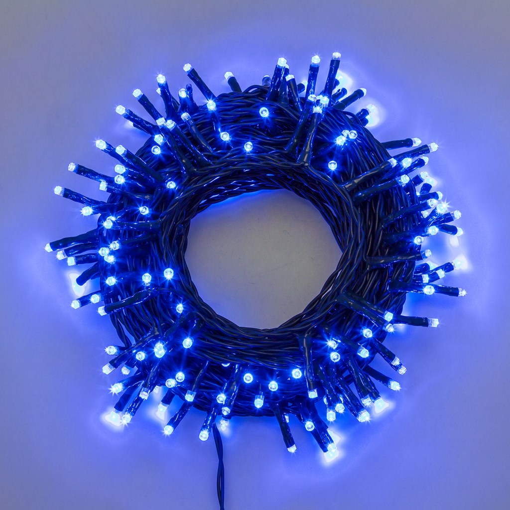 Luci di Natale 360 LED 25,70mt con giochi di luce - BLU