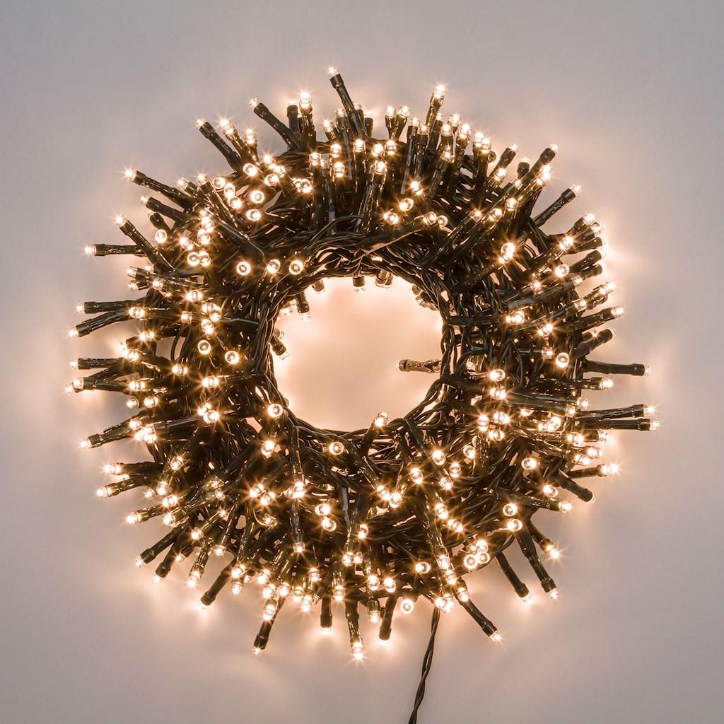 Catena di luci mini cluster 1500 led 30,5mt - bianco CALDO