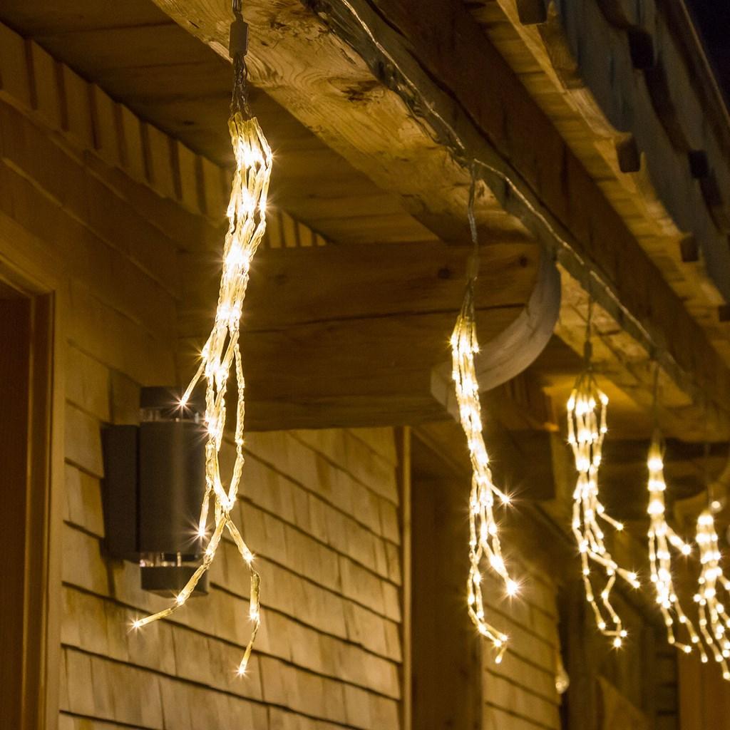 Tenda luminosa 10 grappoli 480 mini Led - 900 x h 40 cm - Luce Fissa - Bianco Classic