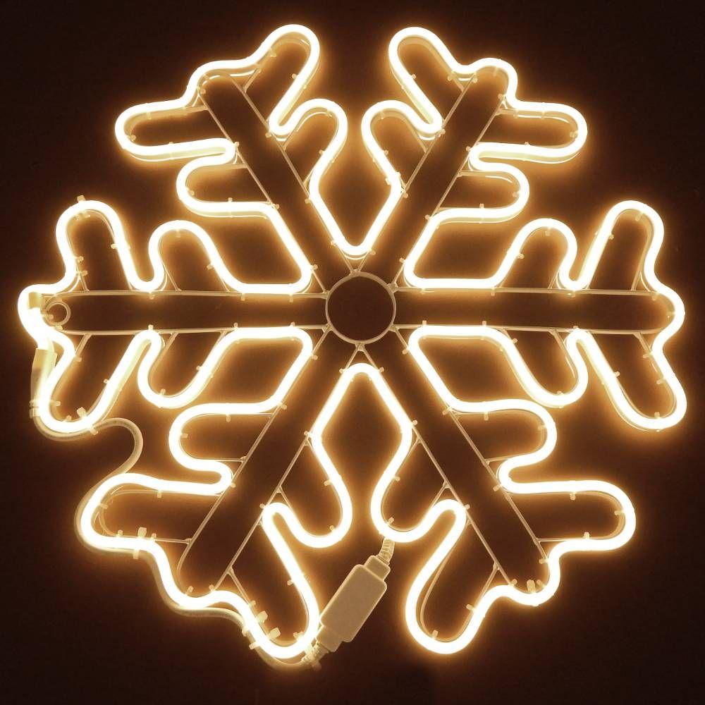Cristallo di neve d.60 neon bifacciale 720 led - bianco classic