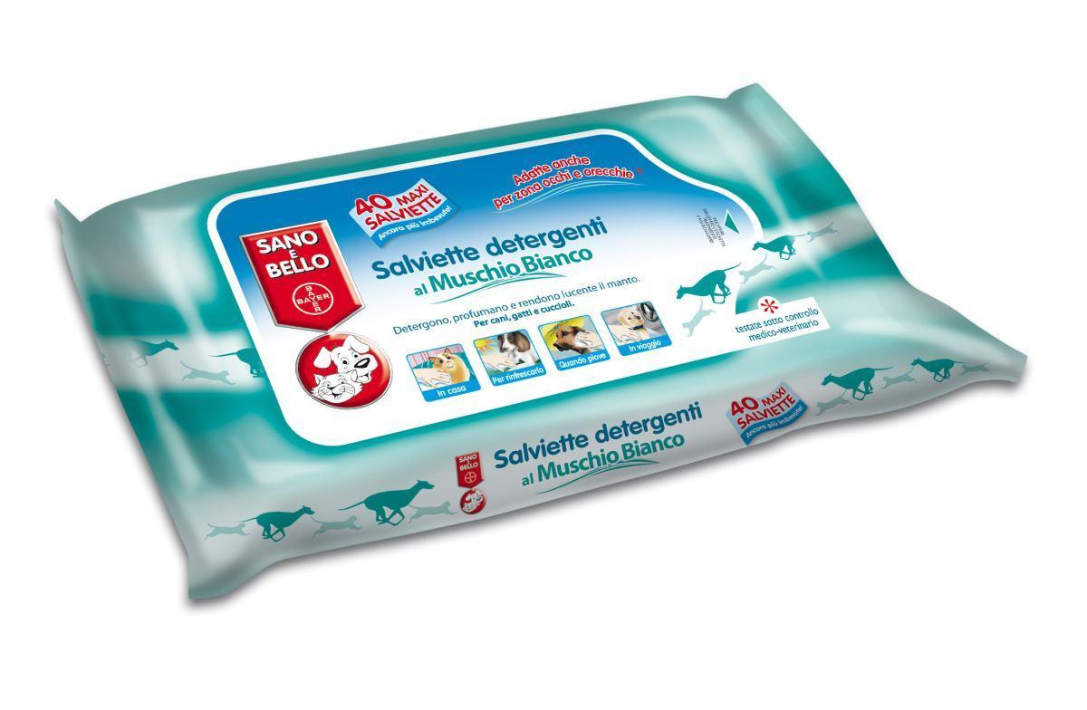 Salviette Detergenti Muschio Bianco 40 Pz