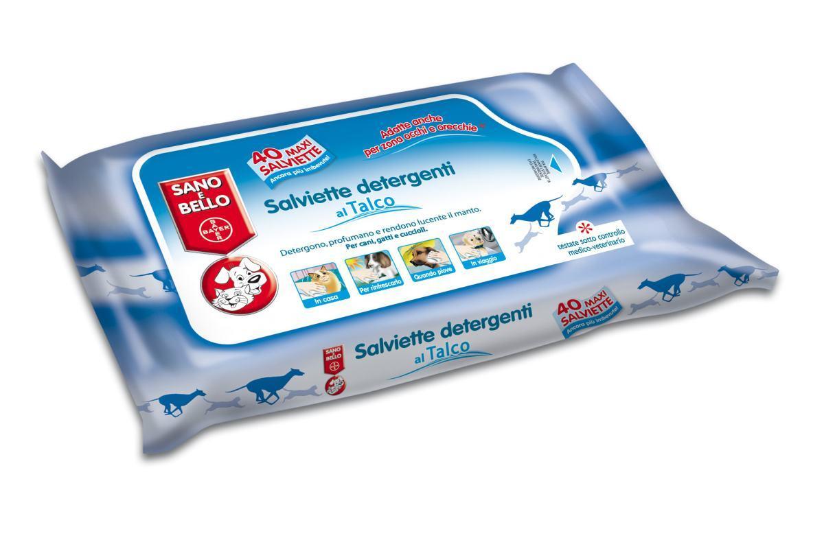 Salviette Detergenti Talco 40 Pz