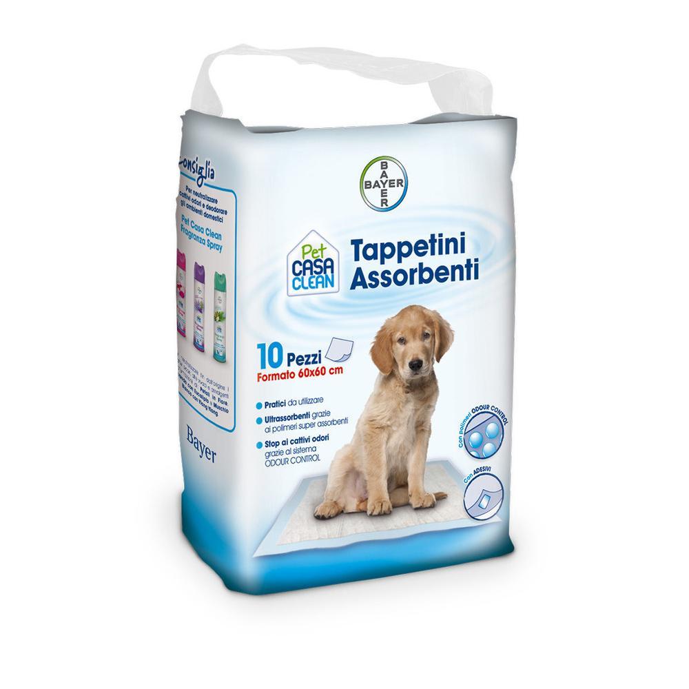 TAPPETINI ASSORBENTI 60X60 10PZ PET CASA CLEAN