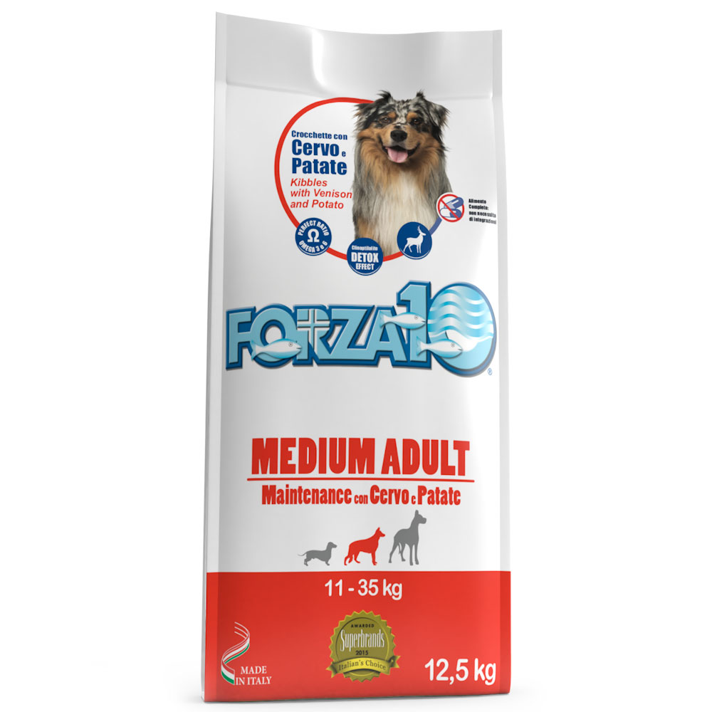 FORZA10 MEDIUM ADULT MAINTENANCE con cervo e patate kg12,5