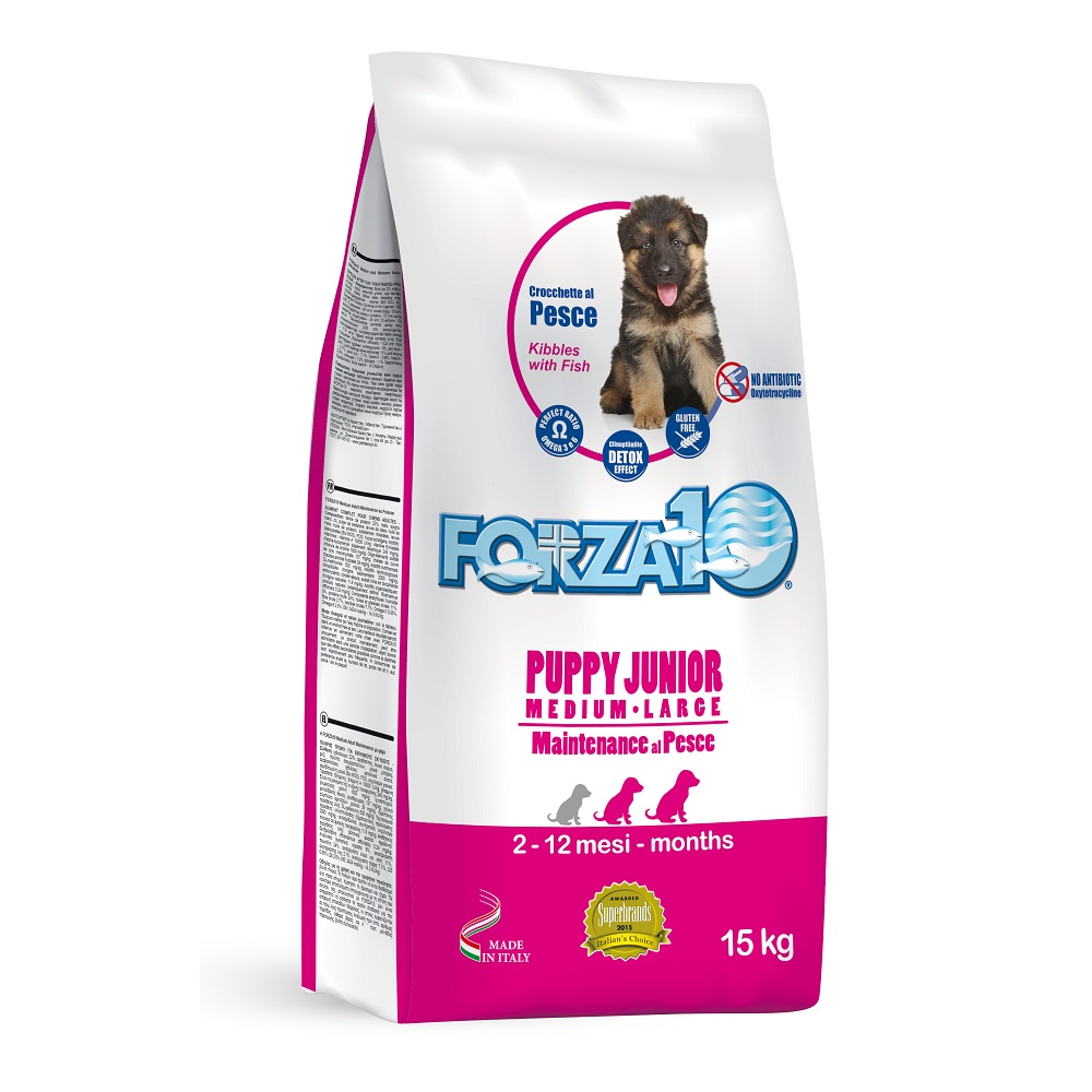 FORZA10 Puppy Junior kg15 - medium/large PESCE