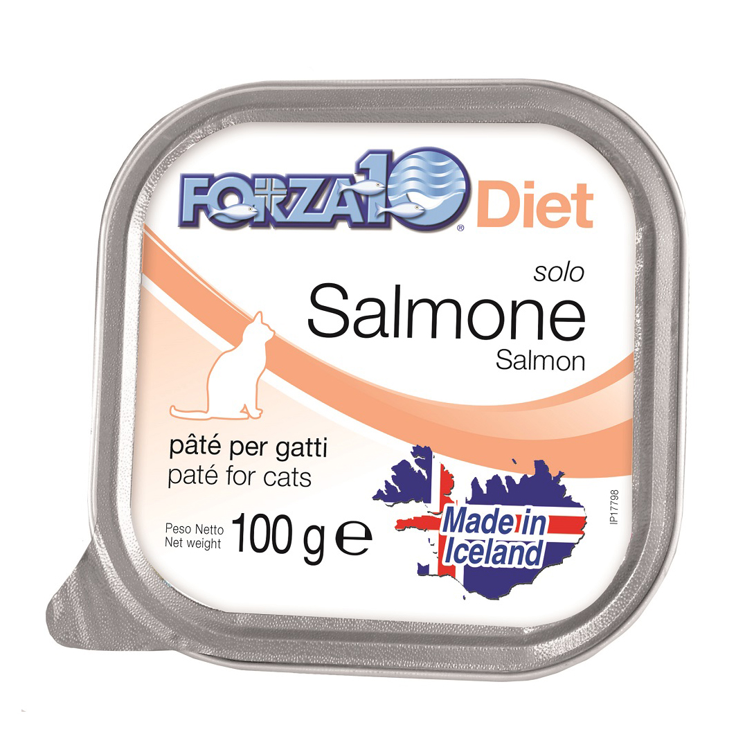 FORZA10 Gatto gr100 SOLO DIET Salmone