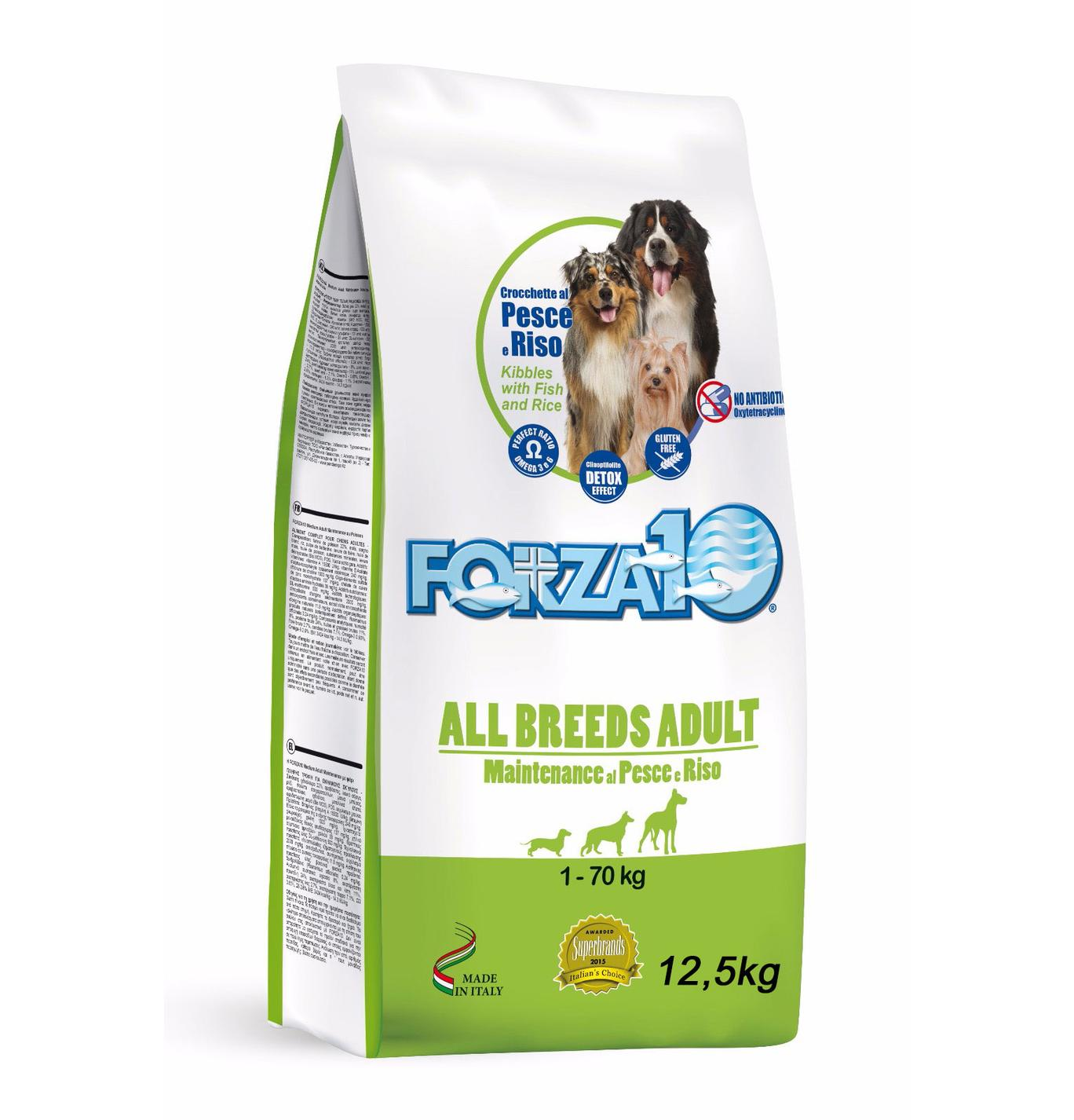 FORZA10 All Breeds Adult Maintenance al Pesce e Riso kg12,5