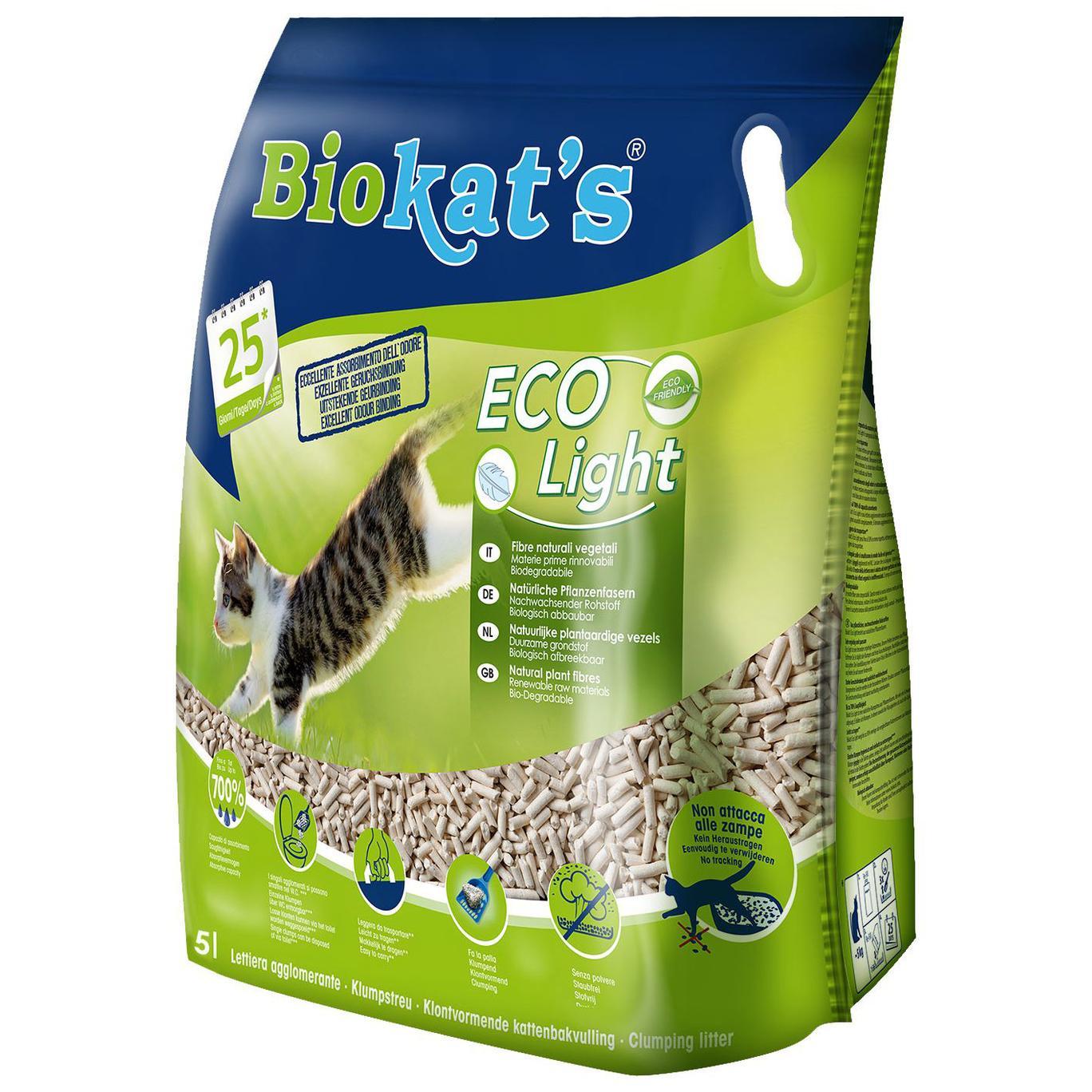 Biokat's EcoLight 5LT Lettiera di fibre vegetali naturali