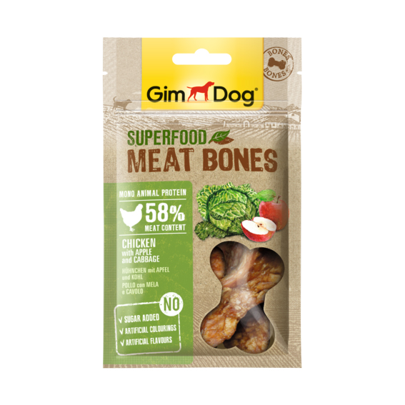 Superfood Meat Bones Pollo con mela e cavolo 70gr