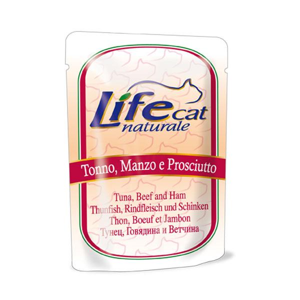 Life Cat naturale Adult Tonno Manzo e prosciutto busta gr70
