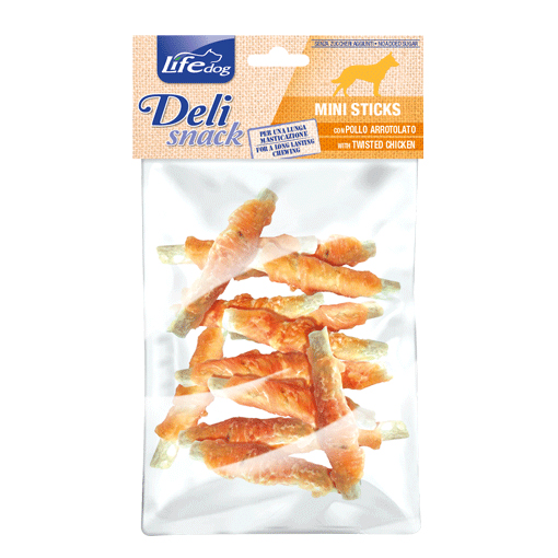 Mini stick con pollo arrotolato 100gr