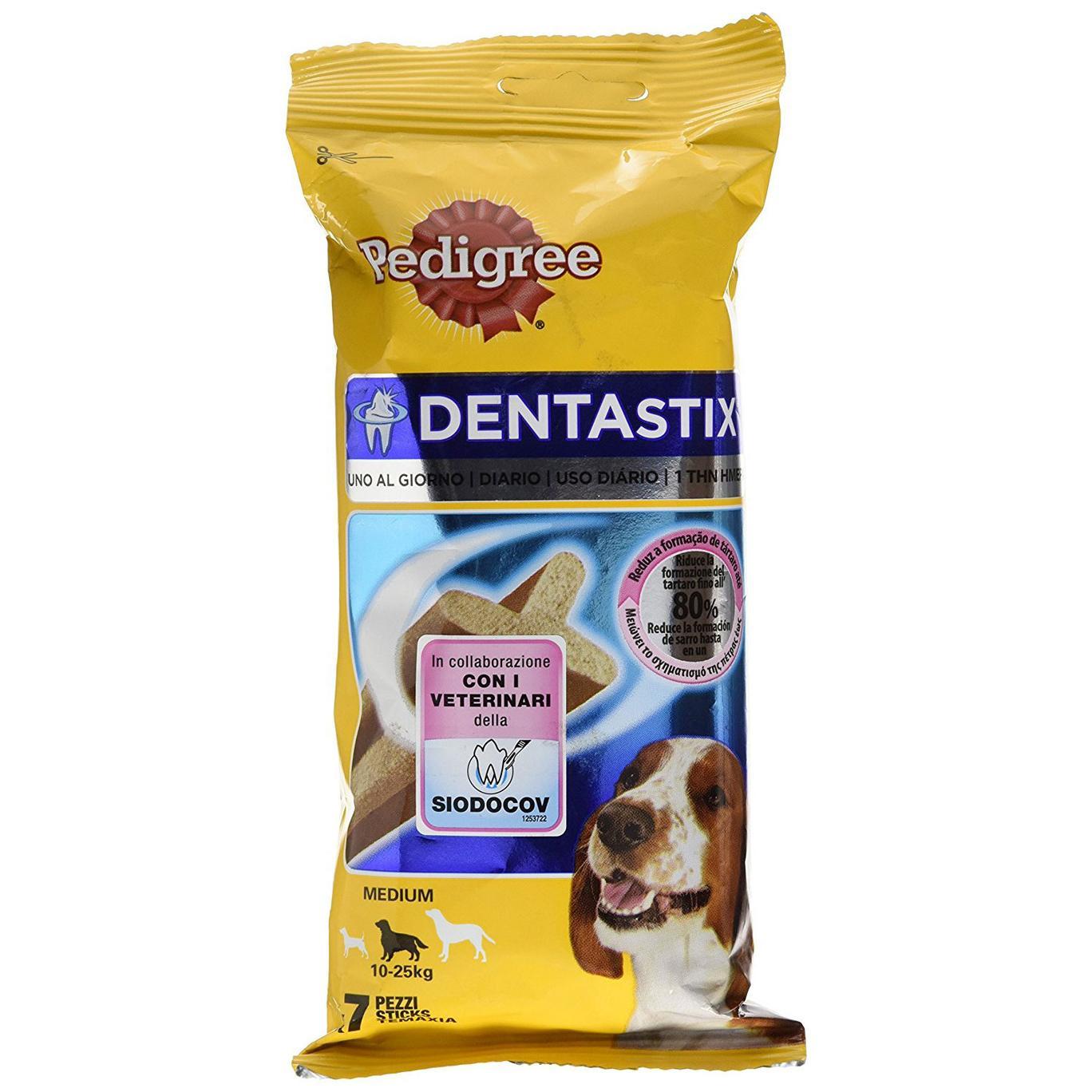 Pedigree Dentastix Uno al Giorno Medium 10-25 kg - 7 Pezzi da 180 gr