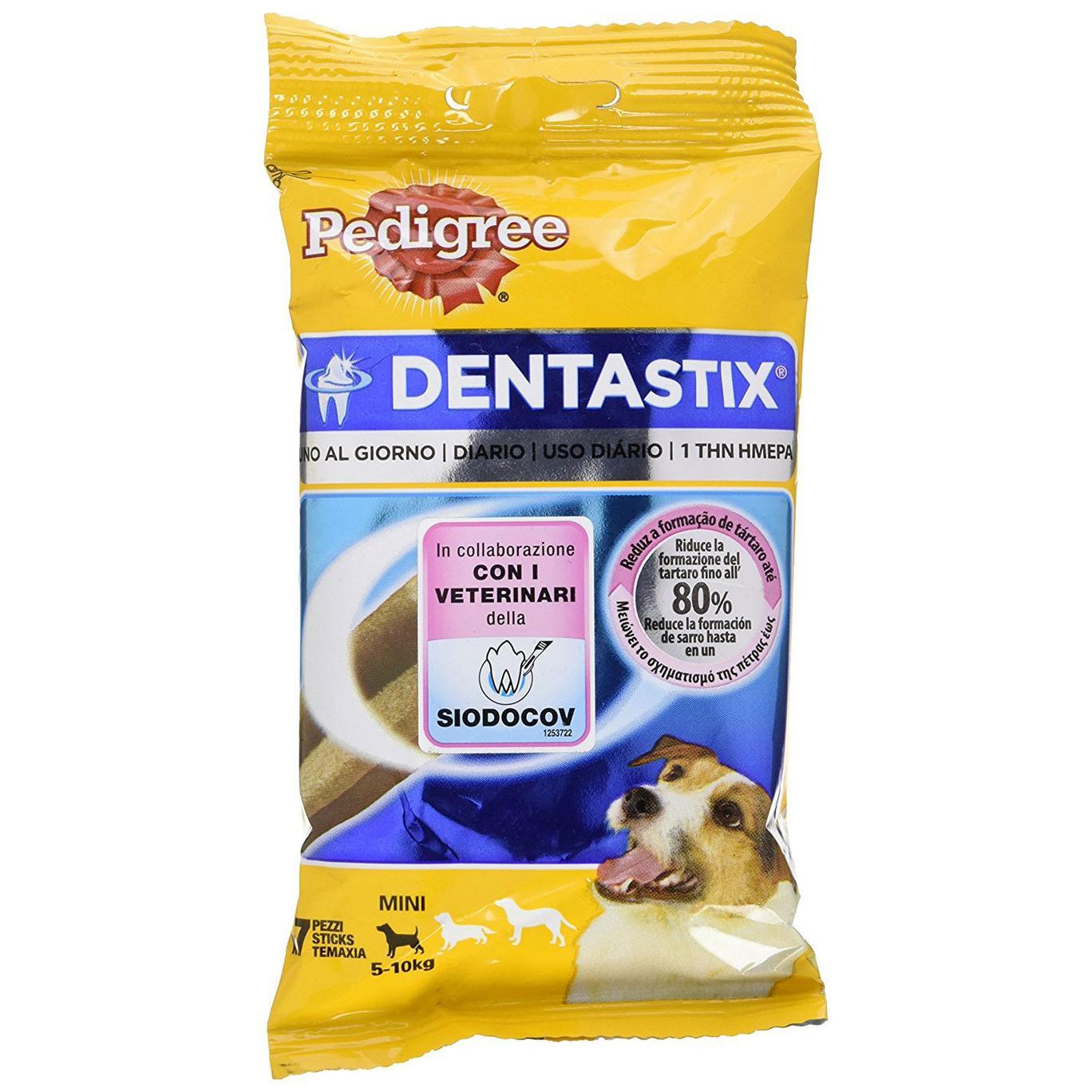 Pedigree Dentastix Uno al Giorno Mini 5-10 kg - 7 Pezzi da 110 gr