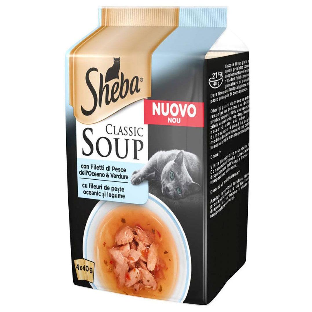 Sheba SOUP multipack buste 4x40gr -Filetti di Pesce-