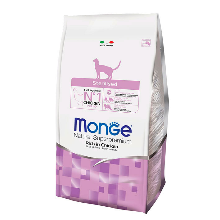 MONGE cat STERILISED CON POLLO KG1,5