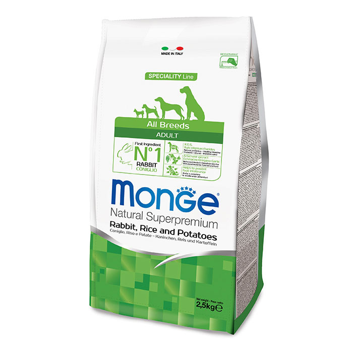 Monge DOG All Breeds Adult Coniglio, Riso e Patate kg2,5