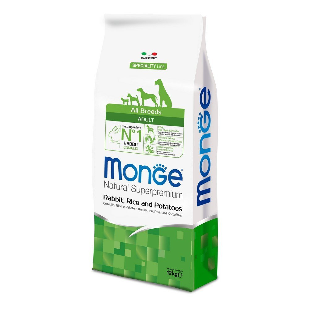 Monge DOG All Breeds Adult Coniglio, Riso e Patate kg12