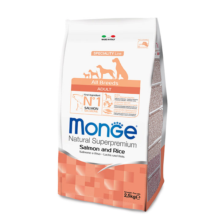 Monge DOG All Breeds Adult Salmone e Riso kg2,5