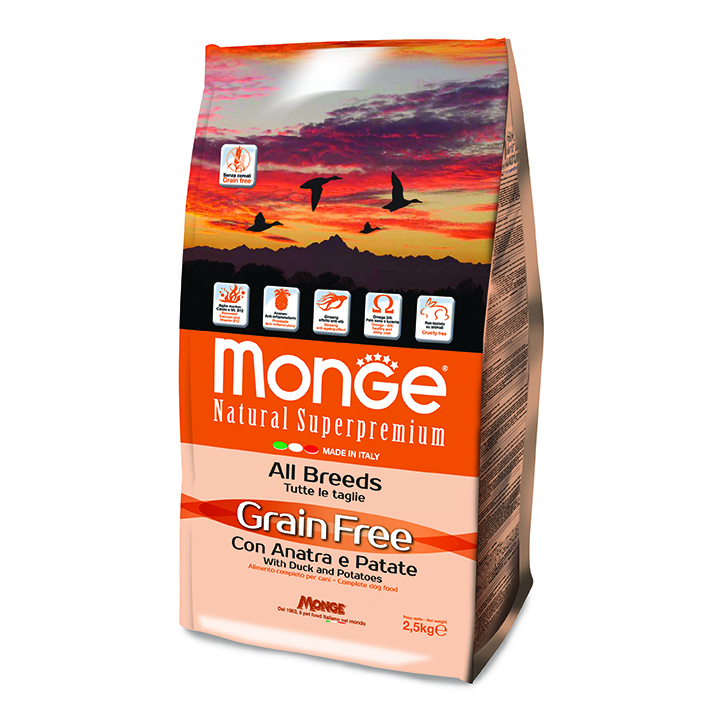 Monge Grain Free 12kg con Anatra e Patate - ALL BREED