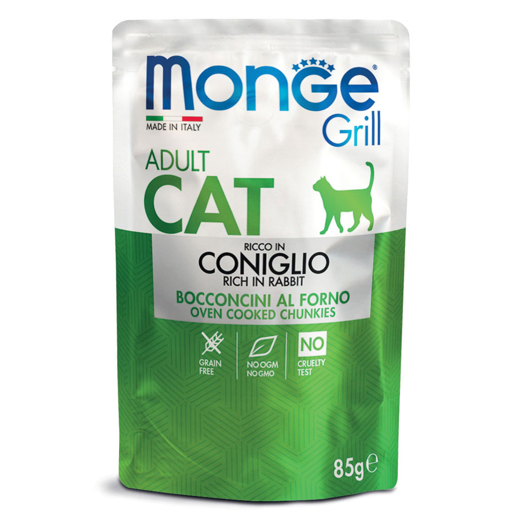 Monge Grill CAT ADULT Bocconcini in Jelly Ricco in Coniglio gr85