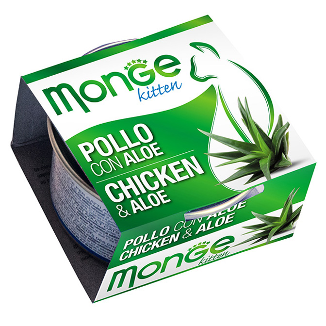 MONGE FRUITS POLLO CON ALOE KITTEN GR80