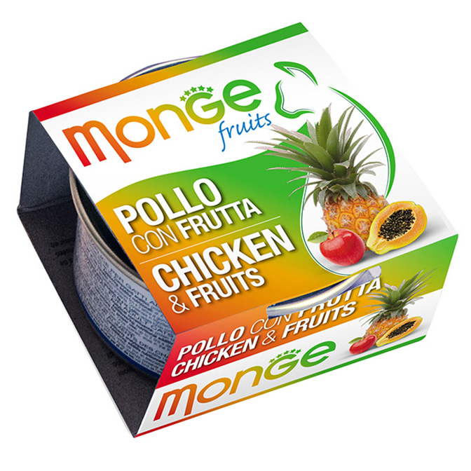 MONGE FRUITS POLLO CON FRUTTA GR80